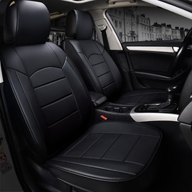 PU Material Business Style Full Coverage Five Seats Universal Seat Covers All Seasons Fit Comfortable And Breathable Wear-resisting  Material Easy To Clean Seat Covers