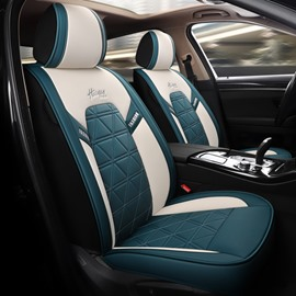 PU Leather Sport Seat Cover  5 Seats Universal Fit Seat Covers Full Coverage With Waterproof Leather Wear-Resistant Dirty-Resistant Universal Fit Seat Covers