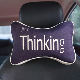 Meaningful Simple Letter Patterned Car Neckrest Pillow