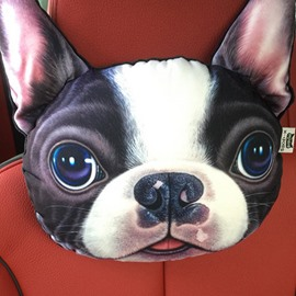 Funny Personalized Bulldog Face Car Seat Pillows