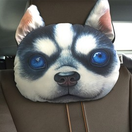 Humorous Personalized Husky Face Car Seat Pillows