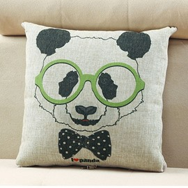 Comfortable Quillow Fashion Panda Linen Blanket Car Pillow