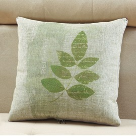 Comfortable Quillow Maple Leaf Patterned Linen Blanket Car Pillow