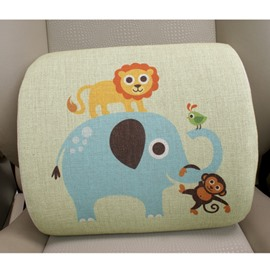 Concise And Styling Linen Material Lion Elephant Lumbar Support Car Pillow