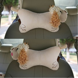 Lifelike Cartoon Dog Appearance And Most Comfortable Creative Car Pillow