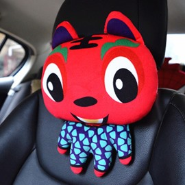 Cute Big Eyes Cartoon Tiger And Most Popular Car Pillow