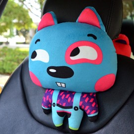 Cute Funny Bared Teeth Blue Rabbit Fashional Car Pillow