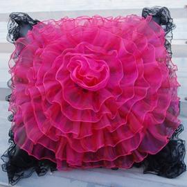 Big Size Beautiful Flower Lace Style Design Single Muti-Use Car Pillow
