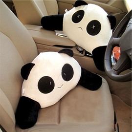 Cute Cartoon Panda 1 Piece Of Lumbar Pillow Creative Car Pillow