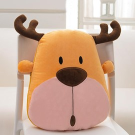 Cute Cartoon Snowy Elk Pattern Design Three Kinds Of Use Multi-Functional Car Pillow