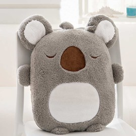 Cute Cartoon Koala Pattern Design Three Kinds Of Use Multi-Functional Car Pillow