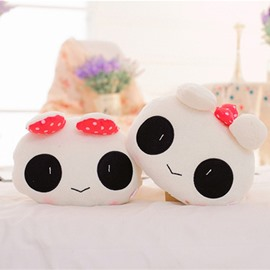 New 1-Pair Cute Big Eyes Rabbit Style Soft Velvet Creative Car Headrest Pillow