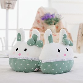 Comfortable 1-Pair Cute Rabbit Design Soft Velvet Creative Car Headrest Pillow