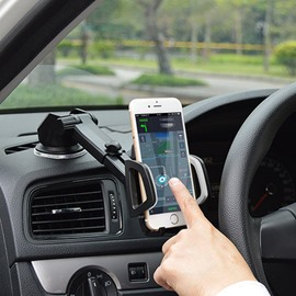Suction Cup Base 270 Degree Rotating Car Phone Mount