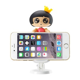 Cartoon Beautiful Girl Style Attractive Rocking Car Phone Holder