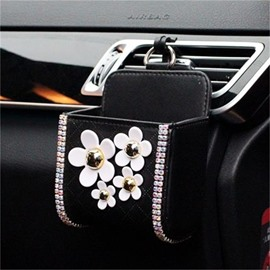 Little Daisy And Sparkling Rhinestone Super Popular Car Phone Holder