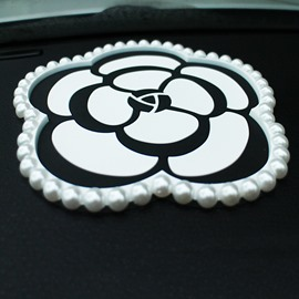 Camellia Car Ornament Anti Slip Mat for Mobile Phone
