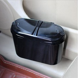 Creative Practical And Refinement Easy To Carry Dual Lids Car Trash Can