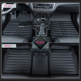 Durable And Waterproof Sleek Design PU Leatherette Custom Car Floor Mats