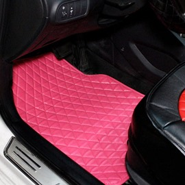 Easy Cleaning Dust-Proof And Anti-Dirt Pink Fashion Universal Car Floor Mats