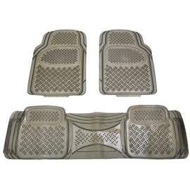 PVC Translucent Anti-Skid Design 2-Front And 1-Rear Overall Universal Car Carpet Liners