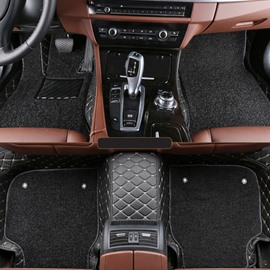 Custom-Made Design Double Leather Layer Thickened All Weather Car Floor Mats