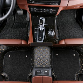 Luxury All Surrounded Type With Double Layer Thickening Leather Material Dedicated Car Carpet