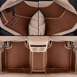 Classic Coffee Solid Style Design Waterproof And Anti-Dust Dedicated Car Carpet