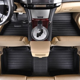 Classic Black Waterproof Easy Clean High-Grade PVC Leather Dedicated Car Carpet