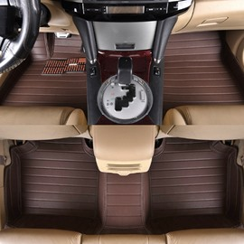 Super High Grade Luxury PVC Leather Sleek Design Custom-Fit Floor Mats