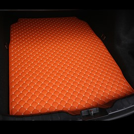 Cost-effective Classic High-quality Leather Orange Custom Car Trunk Cushion