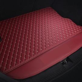 Diamond Shape Geometric Pattern Waterproof Car Trunk Mat For Auto.