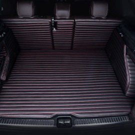4 Color Solid Stripes Pattern Waterproof Car Trunk Mat For Tesla