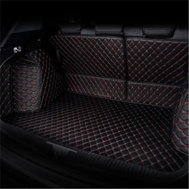 Diamond Shape Luxury Leather Waterproof Car Trunk Mat For RAV4