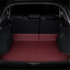 Diamond Shape Luxury Leather Waterproof Car Trunk Mat For RAV4
