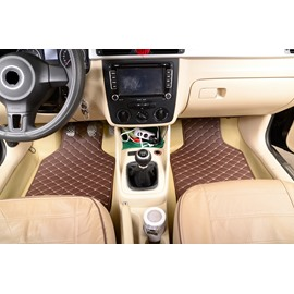 Plain Pattern PVC Material Waterproof Custom Fit Car Floor Mat