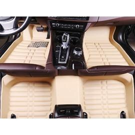 Plain Pattern PVC Leather Material Waterproof Custom Fit Car Floor Mat