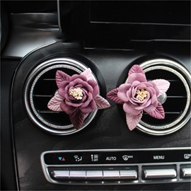 Car Air-Conditioner Outlet Rose Shape Car Decor Perfume