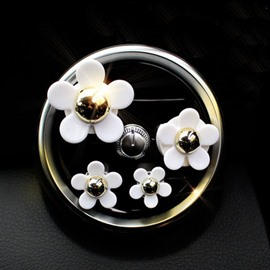 4-Piece Daisy Shape Car Air-Conditioner Outlet Decor Balsam