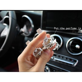 Car Air-Conditioner Outlet Camellia Shape Car Decor Perfume Cream