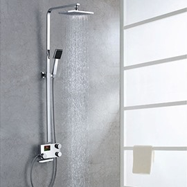 Amazing Simple Style Thermostatic Digital Display Shower Head Faucet