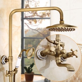 Waterfall Style Round Shape Brass Material Shower Heads