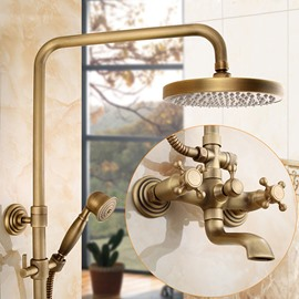 Waterfall Style Round Shape Brass Material Shower Head
