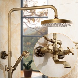 Antique Brass Bathroom Set Shower Heads