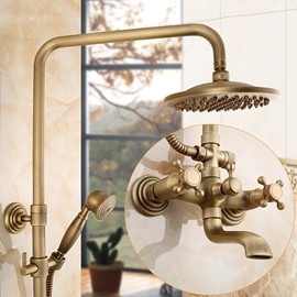 Round Shape Brass Material European Style Bathroom Shower Heads