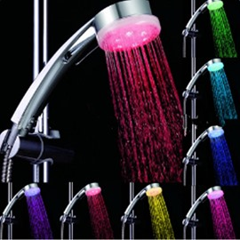 Pressure Boost LED Seven Colors Shower Head Faucet