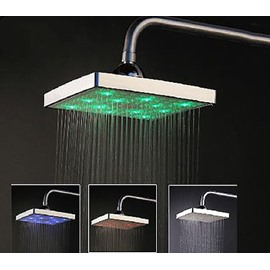 8 Inches LED Changing Color Top Shower Head