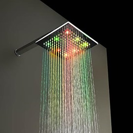 8 Inches 7 Colors Changing LED All Copper Shower Head