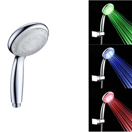 Contemporary Temperature Sensitive LED Color Changing Hand Shower Head