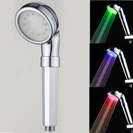 Wall-Mount Temperature Sensor 3 Colors Changing Negative Ion Led Shower Head